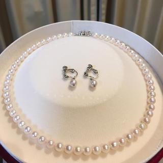 【美品】あこや真珠 ネックレス イヤリング 19Y-220