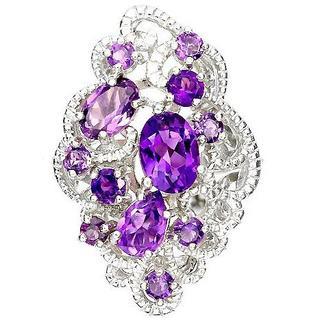 新品★特価2月誕生石★14号 愛情と誠実の石 天然アメジスト指輪(リング(指輪))
