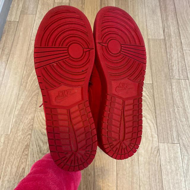 NIKE(ナイキ)のNIKE ナイキ エアージョーダン ハイカットスニーカー 赤 スウェード 24 レディースの靴/シューズ(スニーカー)の商品写真