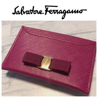 Salvatore Ferragamo - サルヴァトーレフェラガモ 定期入れ パスケース リボン ピンク