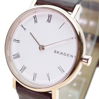 スカーゲン(SKAGEN)のスカーゲン 腕時計 KW2760 クォーツ ホワイト ブラウン(腕時計)