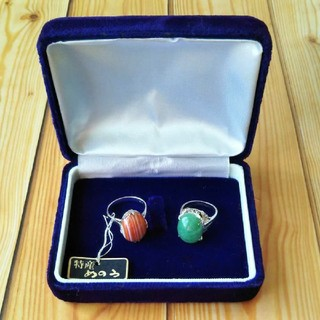 【美品】瑪瑙 メノウ めのう 天然石 指輪 シルバー 2点 まとめ売り(リング(指輪))