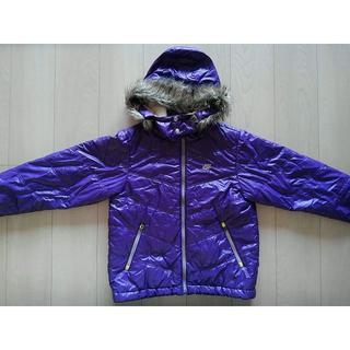 ナイキ(NIKE)のナイキ ファー付き パープル 紫 アウター 中綿 ダウン 150 NIKE(コート)