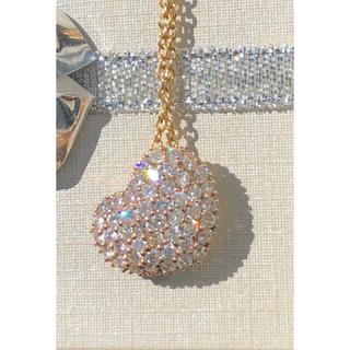 k18 ダイヤモンドネックレス トップ ハート パヴェ