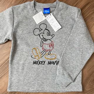 ミッキーマウス(ミッキーマウス)の【新品】MICKEY MOUSE 裏起毛 トレーナー(Tシャツ/カットソー)