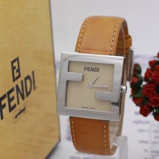 FENDI - 正規品【新品電池】FENDI 4000L/オレンジ ロゴモデル 動作品