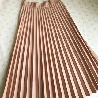 ZARA - ZARA プリーツ ロング スカート サーモンピンク