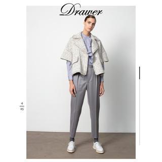 Drawer - 新作 美品 Drawer コットンチェックスタンドフリルシャツ 36