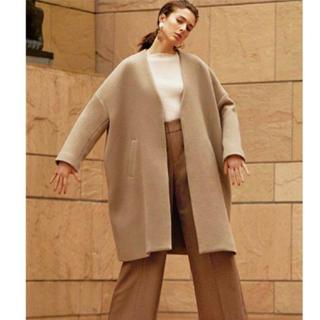 Mila Owen - 美品 ミラオーウェン  今期羊毛ノーカラーコート 短時間のみ