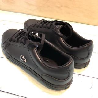 ラコステ(LACOSTE)の新品正規 スニーカーラコステ ロゴ レザー 黒 ブランド おしゃれLACOSTE(スニーカー)