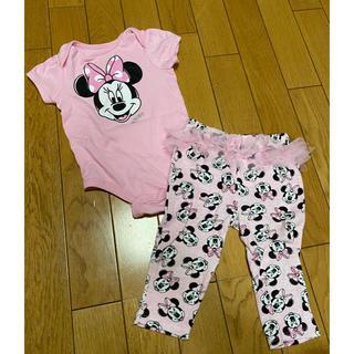 Disney - ディズニー ミニーちゃんロンパース&パンツ、6〜9M