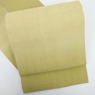 《上質特選品■生紬■細やか霞の名古屋帯■辛子色◆正絹着物◆NY1-18》(帯)