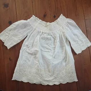アバクロンビーアンドフィッチ(Abercrombie&Fitch)のアバクロ 白 ブラウス トップス Abercrombie&Fitch(Tシャツ(半袖/袖なし))