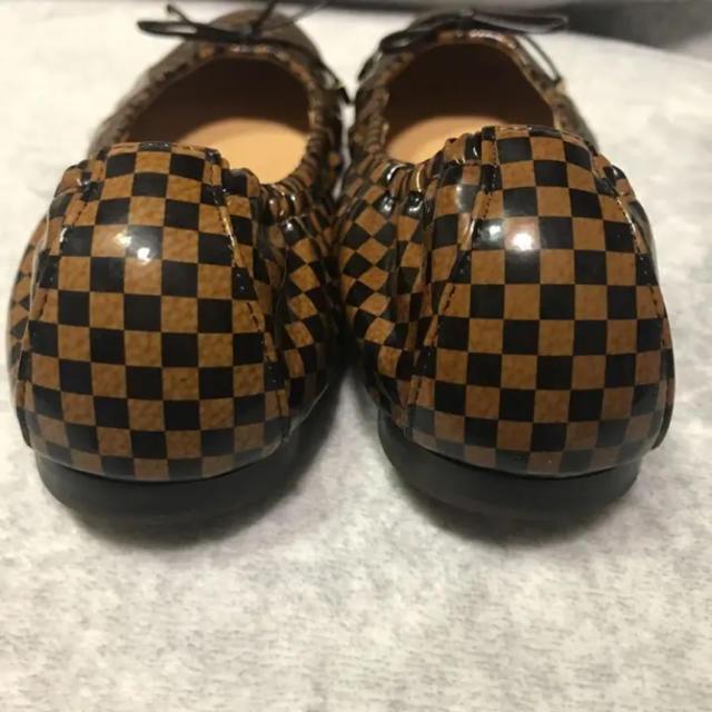 LOUIS VUITTON(ルイヴィトン)の【美品】LOUIS VUITTON ダミエ フラットシューズ 37 レディースの靴/シューズ(バレエシューズ)の商品写真