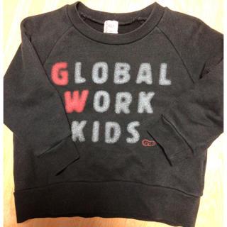 グローバルワーク(GLOBAL WORK)の23.グローバルワークキッズ トレーナー 100cm(Tシャツ/カットソー)