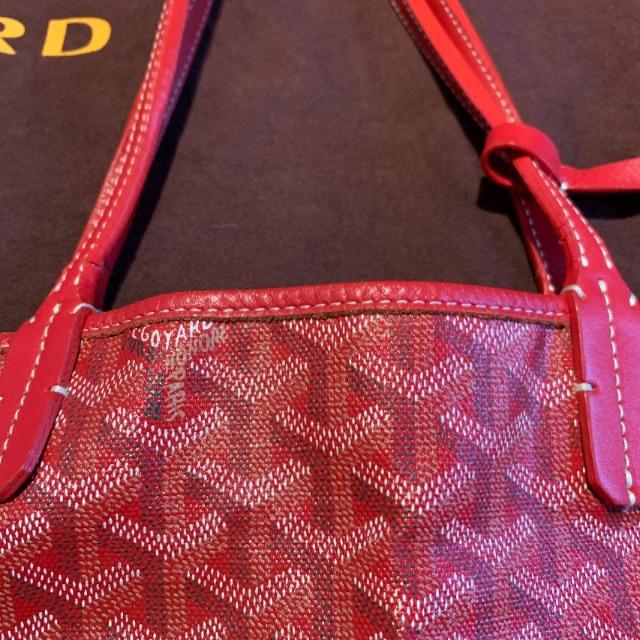 GOYARD(ゴヤール)のゴヤール GOYARD 赤 レディースのバッグ(トートバッグ)の商品写真