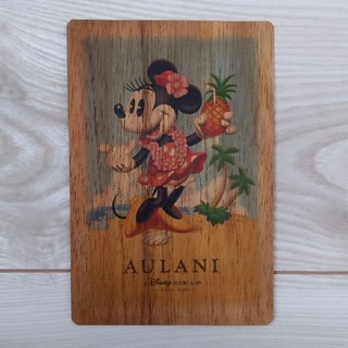 Disney - アウラニ ディズニー 木製 ポストカード