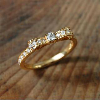 avaron   rondo リボンリング K18 ダイヤモンド(リング(指輪))