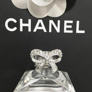 CHANEL - 正規品 シャネル 指輪 リボン ココマーク ラインストーン シルバー リング 2
