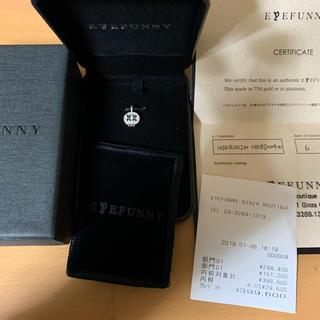 アイファニー(EYEFUNNY)のアイファニー ネックレス ドクロ フルダイヤ 付属品完備(ネックレス)