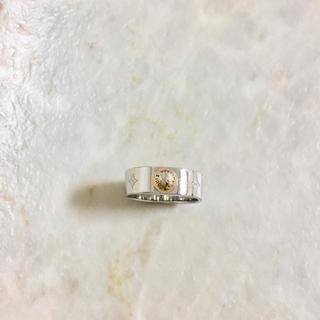ルイヴィトン(LOUIS VUITTON)の正規品 ヴィトン 指輪 ナノグラム M00216 シルバー ゴールド リング 2(リング(指輪))
