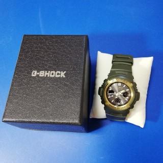 ジーショック(G-SHOCK)のgshock awg  電波ソーラー  m100a  グリーン(腕時計(デジタル))