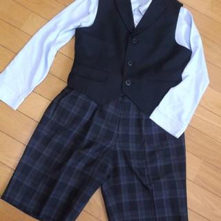 COMME CA ISM - 美品★140コムサイムズ黒ベスト長袖ポロシャツ130Bフォーマルチェックパンツ
