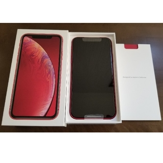 iPhone - iPhoneXR 64GBレッド赤 SIMロック解除済 新品未使用