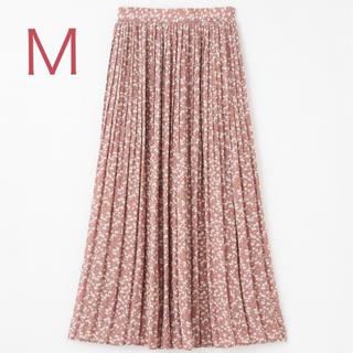 しまむら - 小花柄プリーツスカート ピンクM
