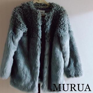 MURUA - 超美品❤️MURUA 毛皮風コート