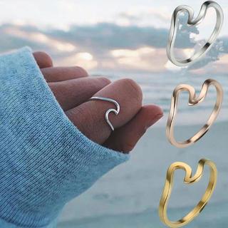 波モチーフ ゴールドウェーブリング14号波リング(リング(指輪))