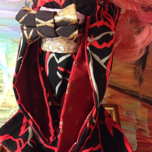 下着物金色人絹 姫着物 ネオブライス リカちゃんサイズ 着物 エンタメ/ホビーのエンタメ その他(その他)の商品写真