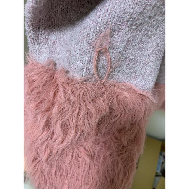 dazzlin(ダズリン)のdazzlin ピンクニット レディースのトップス(ニット/セーター)の商品写真