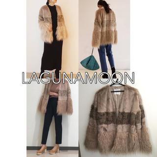 LagunaMoon - LAGUNAMOON パッチワークエコファーコート