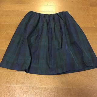 グリーンレーベルリラクシング(green label relaxing)のチェック柄スカート(ひざ丈スカート)