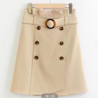 トレンチ風Aラインスカート
