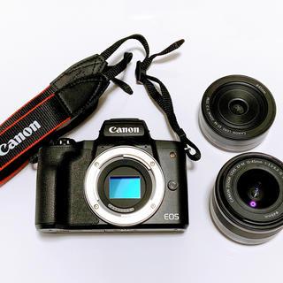 Canon - 1月限定値下げ Canon EOS Kiss M ダブルレンズキット
