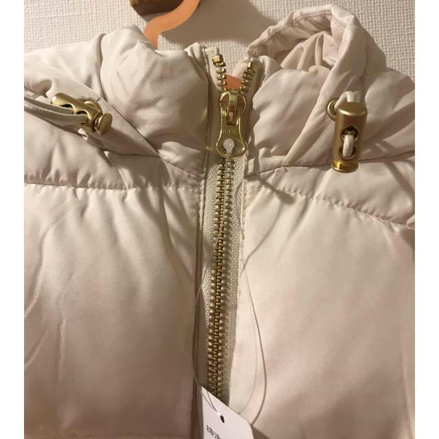Doux archives(ドゥアルシーヴ)のドゥアルシーヴ ホワイトダウンベスト 白 レディースのジャケット/アウター(ダウンベスト)の商品写真