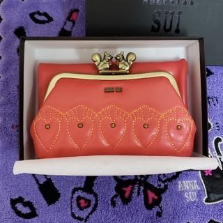 アナスイ(ANNA SUI)の新品AnnaSui★リス幸運のピンクカラー完売財布★アナスイ折り財布(財布)