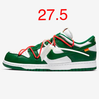 OFF-WHITE -  Nike × Off-White DUNK LOW 27.5 green