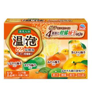アースセイヤク(アース製薬)の温泡 とろり炭酸湯 ぜいたく柑橘柚子(入浴剤/バスソルト)