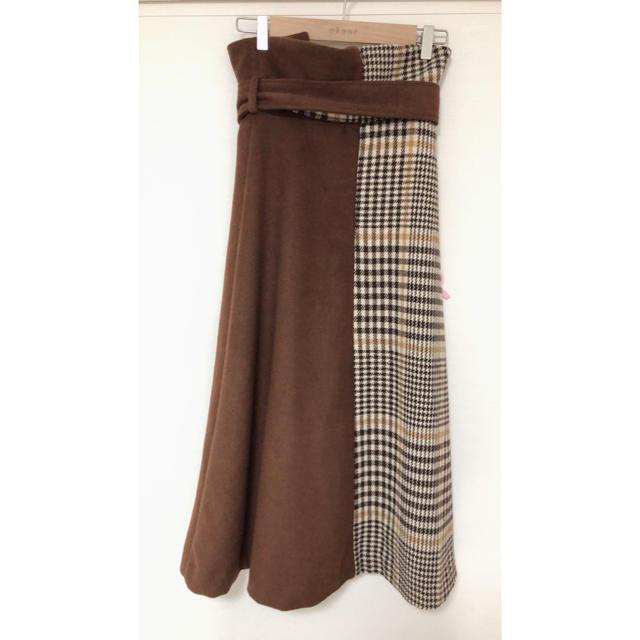 eimy istoire(エイミーイストワール)のeimy istoire フリンジチェックラップスカート  レディースのスカート(ロングスカート)の商品写真