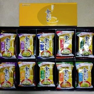 アサヒ(アサヒ)のアマノフーズ金のだしお味噌汁10食(箱なし)(インスタント食品)