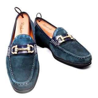 マドラス(madras)の【MADRAS】マドラス 24.5cm 紺色 ビットローファー 革靴(ドレス/ビジネス)