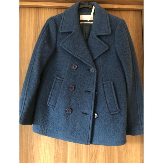 31 Sons de mode(トランテアンソンドゥモード)のウールPコート ブルー ネイビー レディースのジャケット/アウター(ピーコート)の商品写真