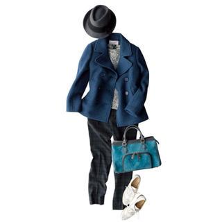 トランテアンソンドゥモード(31 Sons de mode)のウールPコート ブルー ネイビー(ピーコート)