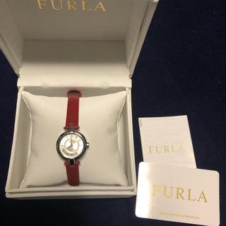 Furla - FURLA  腕時計 赤レザー