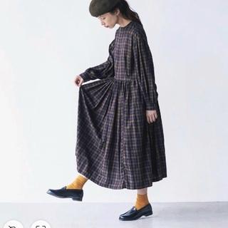 フェリシモ(FELISSIMO)の新品 サニークラウズ  kazumiのたっぷりギャザーのワンピース(ロングワンピース/マキシワンピース)