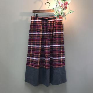 センソユニコ(Sensounico)のセンソユニコ Dw2R スエード×チェックロングスカート(ロングスカート)