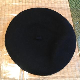 アースミュージックアンドエコロジー(earth music & ecology)の新品未使用 ベレー帽 黒 earthmusic&ecology(ハンチング/ベレー帽)